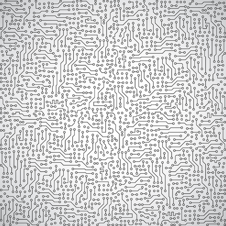circuitry: Gray abstract vector square background - electrical engineering