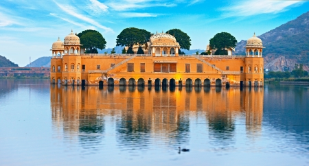 The Water Palace at day - Jal Mahal Rajasthan, Jaipur, India Standard-Bild