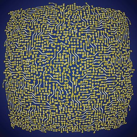 digital art: Vector circuit board electronic abstract background. High tech digital art Illustration