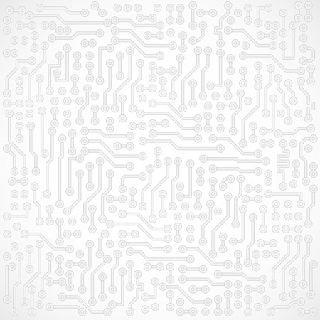 Light gray square abstract vector electronic circuit background Vector