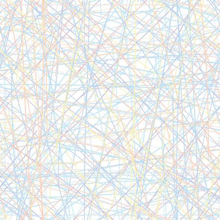 crossing tangle: Vector seamless pattern - set of intersecting color lines. Eps8 simple texture Illustration