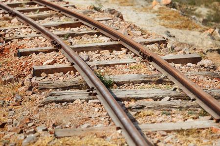 narrow gauge: The old narrow-gauge railway close up