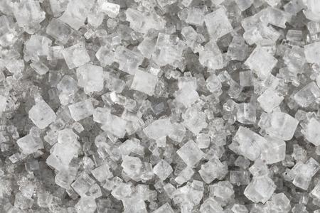 sodium: Large crystals of sodium chloride - macro