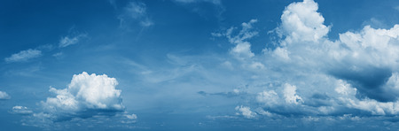 hi res: Panorama of the daytime sky with beautiful clouds