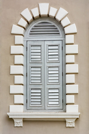 Architectural element - a Renaissance style window photo