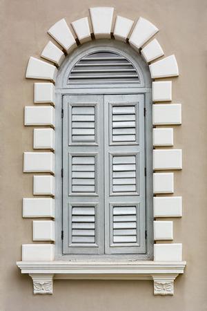 Architectural element - a Renaissance style window photo