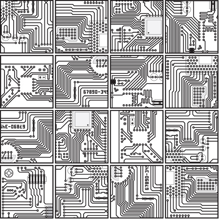 Abstract computer circuit board pattern   イラスト・ベクター素材