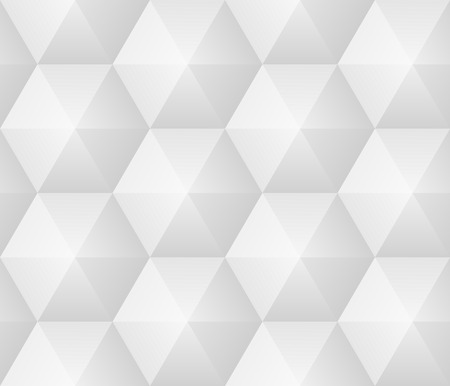 duotone: seamless pattern - geometric modern hexagon polygon gray background