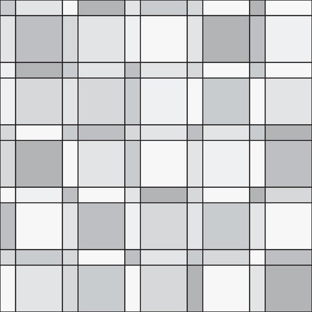 duotone: seamless pattern - squares geometric modern monochrome simple background Stock Photo