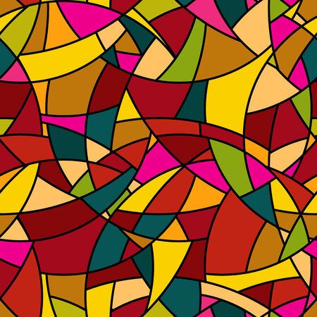 amorphous: seamless pattern - abstract mosaic stained-glass window style simple background Stock Photo
