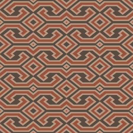 Seamless vintage Toraja color pattern. Ethnic vector textured background from Sulawesi island, Indonesia. Vector