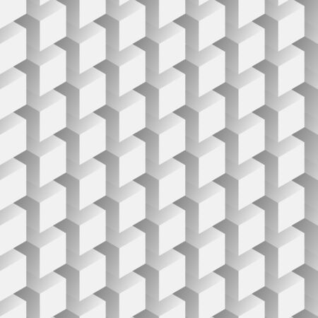 volumetric: Seamless abstract Eps8 vector pattern - repeating volumetric gray cubes mosaic background
