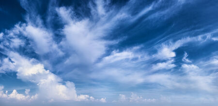 cirrus: Beautiful daytime sky with white clouds