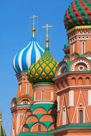 Saint Basils Cathedral in Moscows Red Square. Russia (Cathedral of Vasily the Blessed or Pokrovsky Cathedral) photo