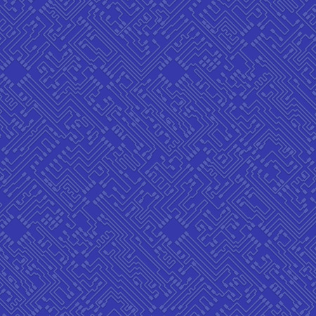 Microchip abstract vector blue background with high tech circuit board pattern