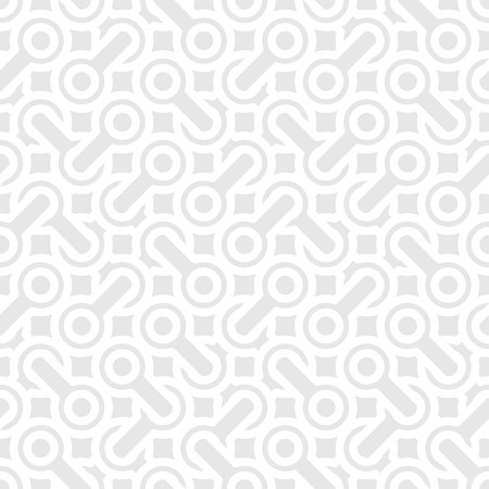 Abstract square simple geometric vector pattern - interlaced shapes on gray background Vector