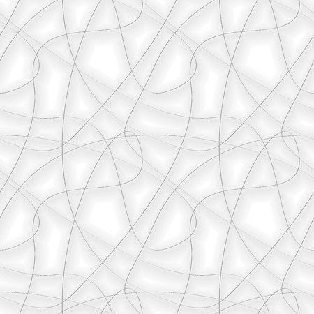 twisty: Seamless vector pattern. Abstract background with chaotic gray threads Illustration