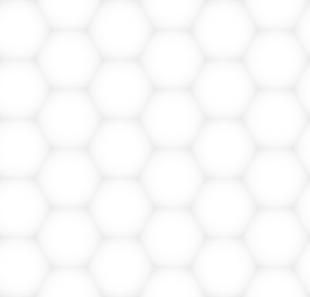 White and gray hexagonal abstract texture. Vector monochrome graphical pattern for design Vector