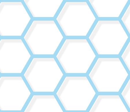 hexagonal pattern: Seamless pattern - White and blue hexagonal texture EPS8