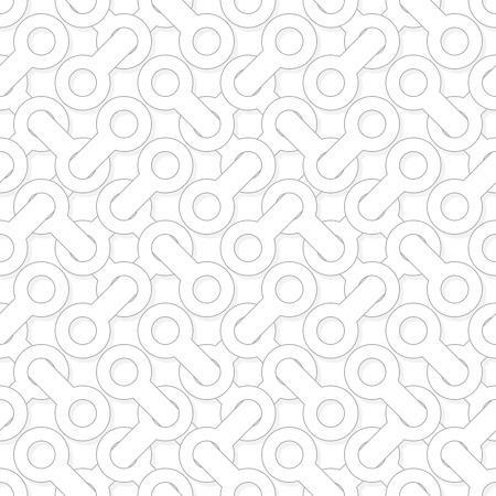 monochromatic: Abstract simple geometric vector eps8 pattern - entwined shapes on white background