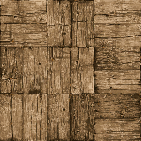 Old parquet floor background - vector realistic grunge element for design in eps8 Vector