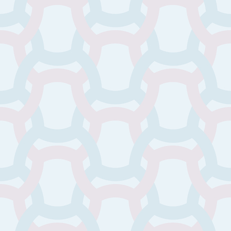 entwined: Abstract simple geometric seamless vector pattern - entwined color grides on light blue background.