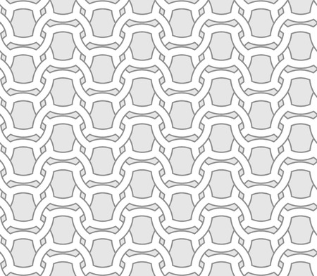 entwined: Abstract seamless geometric vector pattern - entwined grides on grey background. Eps8 Illustration