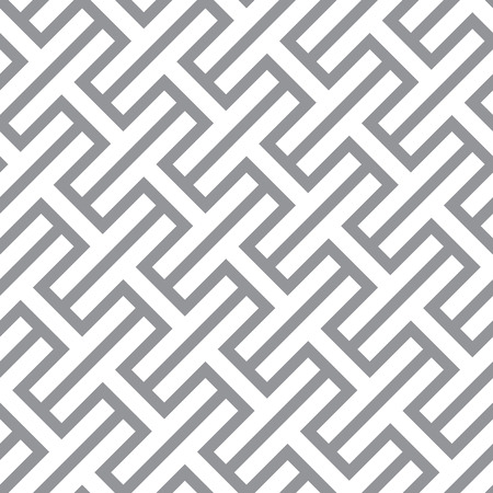eps8: Simple geometric vector seamless monochrome pattern - gray figures design Eps8