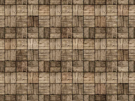 alternating: Seamless background of an old, weathered, parquet style, wooden deck with alternating woodgrain pattern.