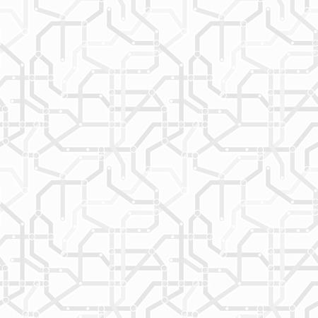 esquema: Gris monocromo abstracta y sistema de metro blanco sin patrón. Concepto de transporte vector wallpaper etexture Vectores