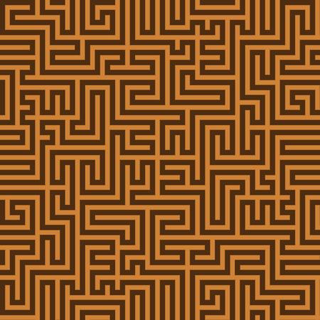 garniture: Seamless simple vintage brown pattern. Ethnic vector textured Greek background