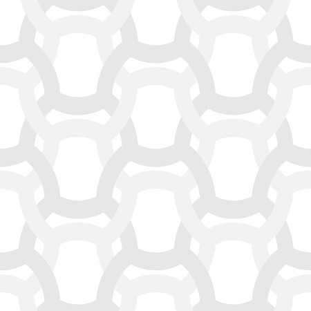 crossing tangle: Abstract simple geometric vector pattern - entwined gray grides on white background Illustration