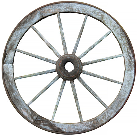 spokes: Old timber and steel antique wagon wheel with 12 ( twelve ) wooden spokes and a steel band