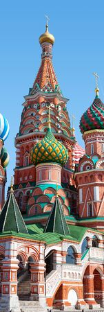 vasily: Saint; Basils Cathedral Moscowin the  Red Square, Russia.  Vasily the Blessed or Pokrovsky;