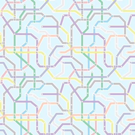 esquema: Color de esquema de transporte ferroviario de metro en el fondo azul. Resumen sin patrón Vectores