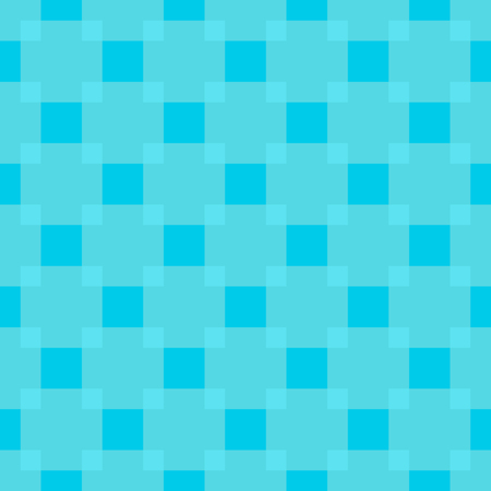 2d wallpaper: pattern - geometric seamless simple light blue color modern texture. Repeated squares. Illustration