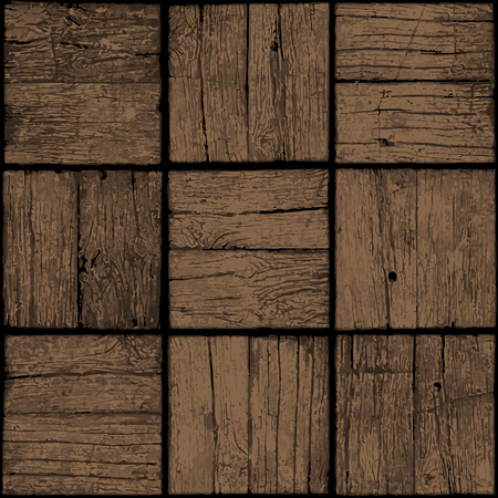 Old wooden seamless background. Grunge table or parquet floor.