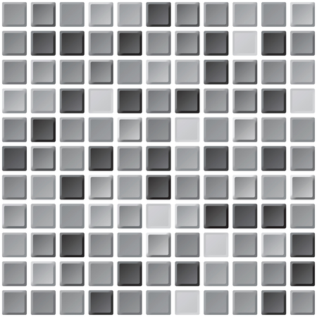 bathroom tiles: Abstract monochrome black and white tiles seamless pattern. Bathroom interior walls texture for design Illustration