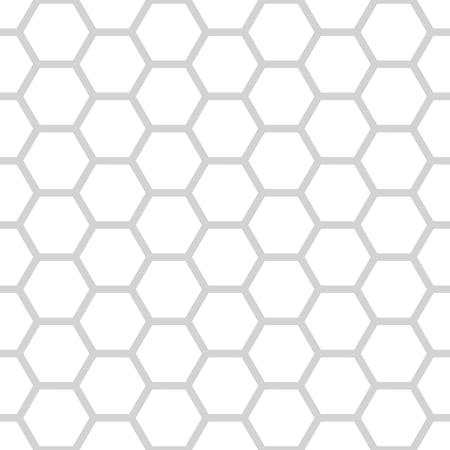 2d wallpaper: seamless pattern of grey and white hexagonal net.
