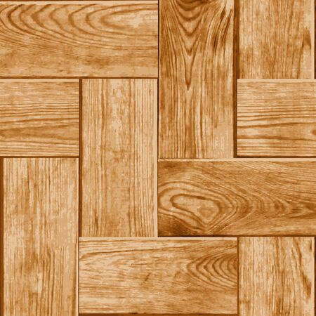 parquet flooring: Seamless, illustrated tile with a digital representation of parquet flooring, including realistic wood grain and ring patterns. Illustration