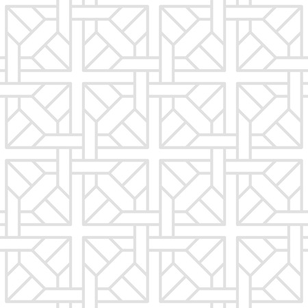 tessellate: Digital illustration of a series of geometric shapes arranged in a seamless, tessellate pattern of gray lines on a white background.