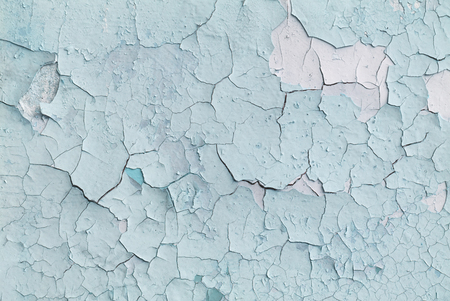 Abstract wall with old blue paint, background