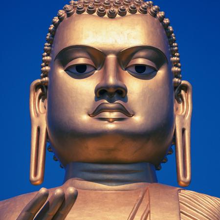 Sri Lanka. The giant Buddha statue in Dambulla cave temple Editorial