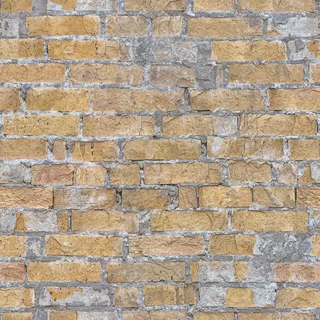Nahtloses Bild einer Wand des roten Backsteins und des grauen morter in der Nahaufnahme, passend, um als Hintergrund zu dienen. Standard-Bild - 87233032