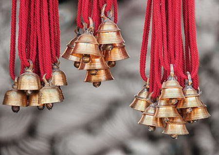 sell: New camels bells for for sale at the open market. India Stock Photo