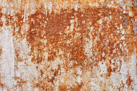 Alte schmutzige Mauer. Weiße und braune Farben. Hintergrund Standard-Bild - 86805129