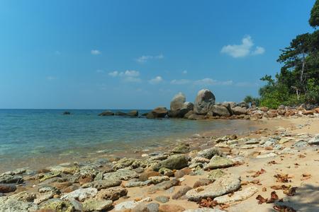 Phuket, Thailand - wild deserted beach. Romantic place with nobody