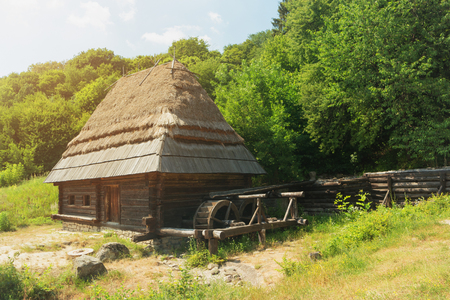 Watermill from the museum Pirogovo, Kyiv, Ukraine Editorial