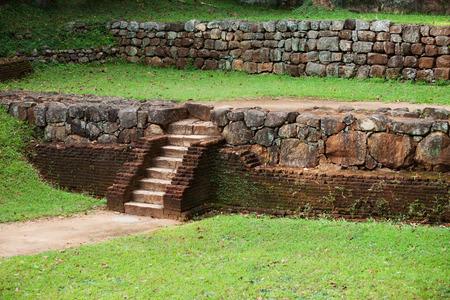 Ancient brick steps in Polonnaruwa, Sri Lanka