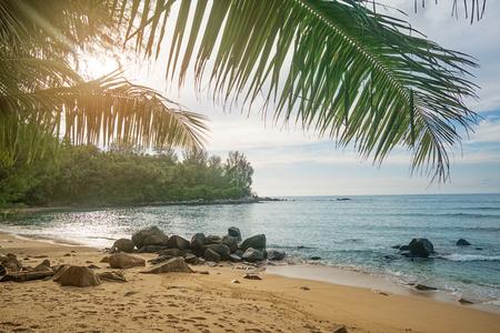 The deserted beach. Phuket, Thailand Standard-Bild - 90547099